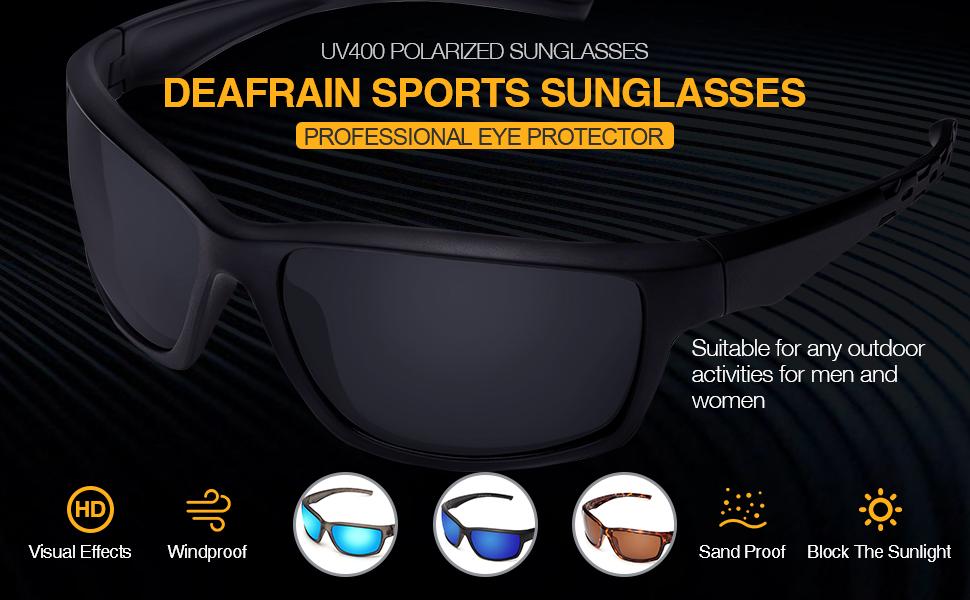 Pipi Penguin Polarized Sports Sunglasses for Men Women Fishing Cycling Running Trekking,UV Protection