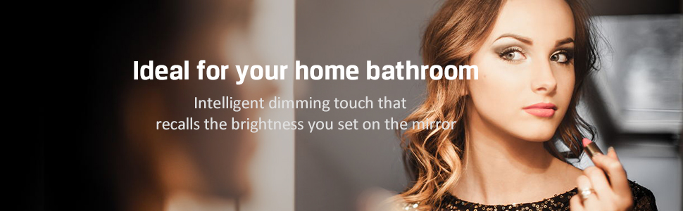 led bathroom mirror lighted