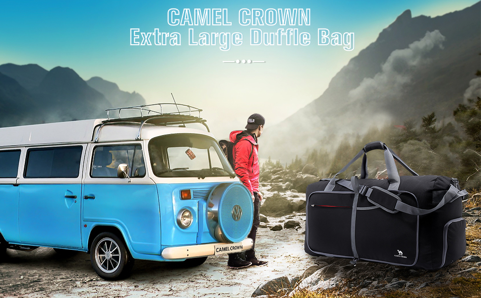 CAMEL CROWN Extra Large Duffle Bag
