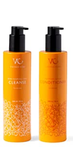 Vicious Curl Non-Foaming Curl Cleanse and Moisture Surge Conditioner Kit