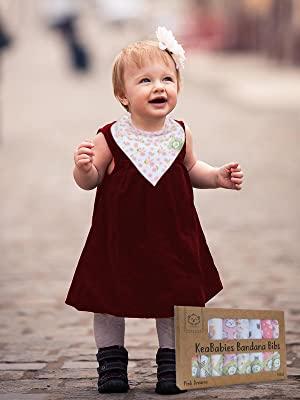 baby bib girl girls pink bibs bandana handkerchief unisex infant organic cotton cute sweet soft