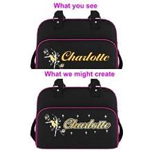 Personalised Custom Dance HOLDALL Gym Bag in 7 Great Colours MusicaliTee Irish Gaelic Dancing Dancer Celtic Knot