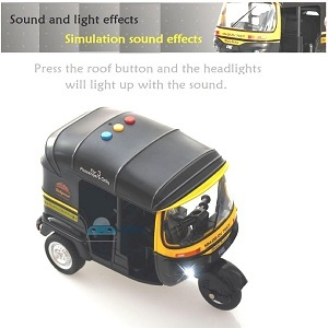 diecast auto rickshaw toy sound and light vehicle set for kids kids toys 3 to 5 years