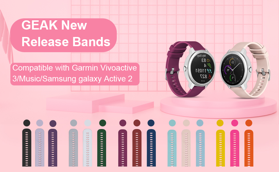 GEAK Color bands For Garmin Vivoactive 3