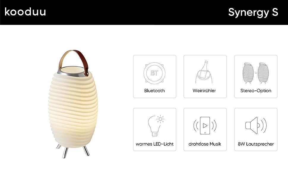 The.Duo Original 35 Designlampe /& Bluetooth-Lautsprecher /& Weink/ühler