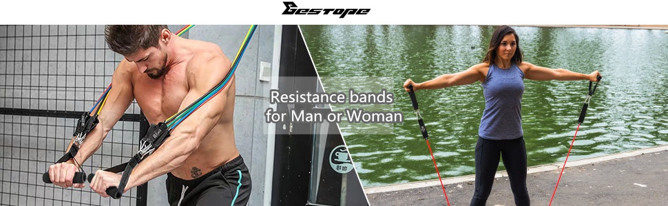 resistance bands set for man or woman
