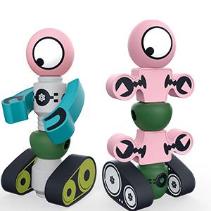 DigHealth 35 Piezas Bloques Magneticos, Juguetes Robot Magnéticos con Caja de Almacenamiento, Juguetes Bloques de Construcción Educativos para Niños Niñas de 2 3 4 5 6 7 8 Años: Amazon.es: Juguetes y juegos