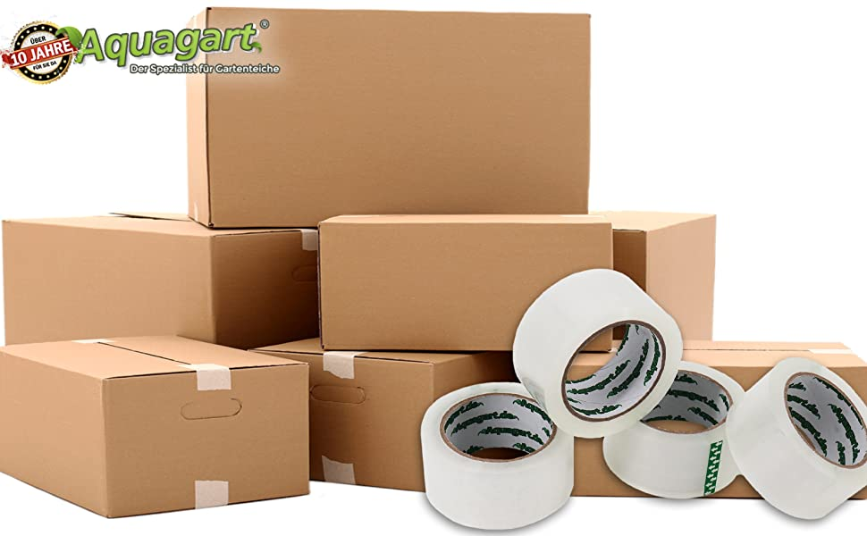 Aquagart Profi Klebeband Paketband Extra Stark Paketklebeband 50mm X 66m Transparent Verschiedene Mengen 12 Rollen Amazon De Baumarkt