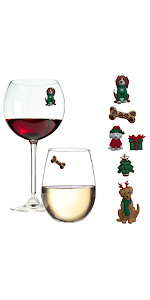 Magnetic Wine Glass Charms christmas