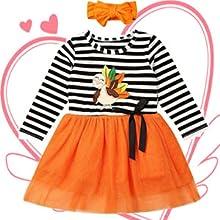 girls one piece turkey dress