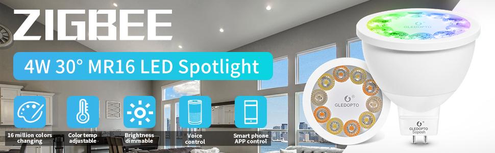 MR16 GU5.3 led spot light lighting 12V bulb small voltage spotlight rgbcct