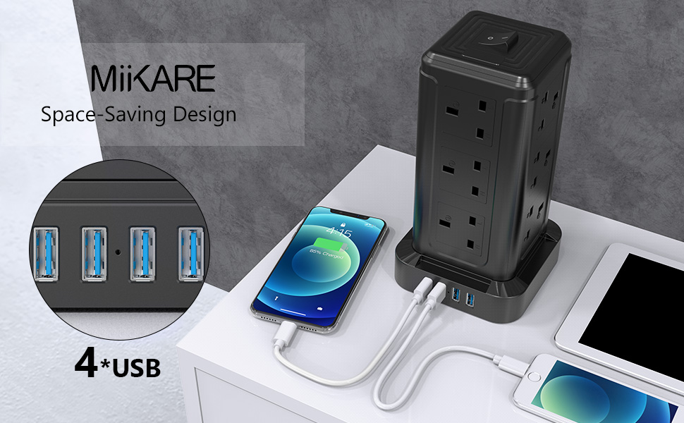 extension tower with usb ports