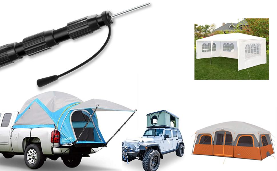 2M Doppelzelt zum Ersetzen von Zeltstangen Zelt Tarp Rod Hitzebest/ändige Fiberglas Camping Zeltstange f/ür 2