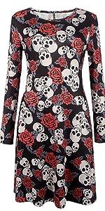 Halloween skull dress