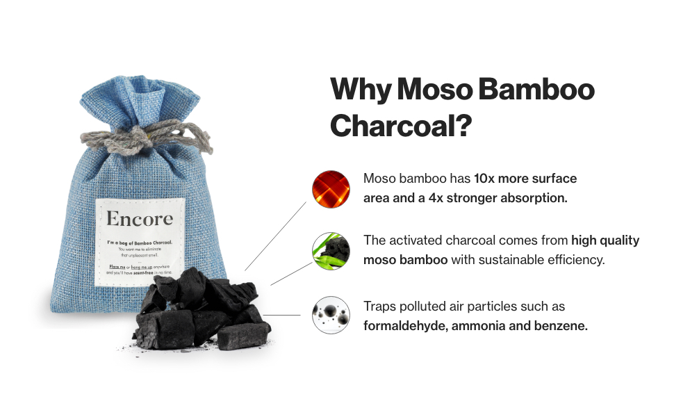 moso bamboo charcoal strong odor absorption