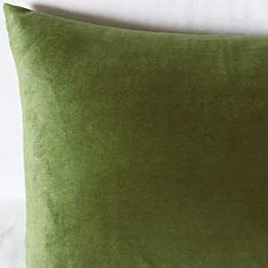 green lumbar pillow covers