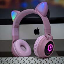 LED-Licht Katzenohren drahtlose Kopfhörer für Kinder über Ohr Bluetooth Kinder Kopfhörer Lautstärke
