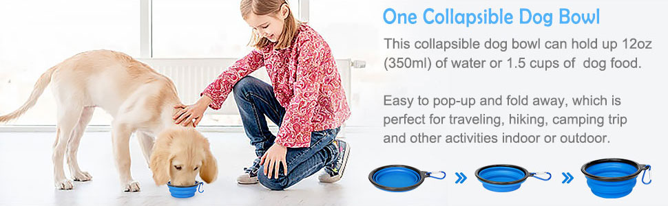 Great Door Bell for Dogs, One Collapsible Dog Bowls
