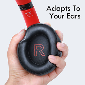 wirelesss headphones with soft ear cups