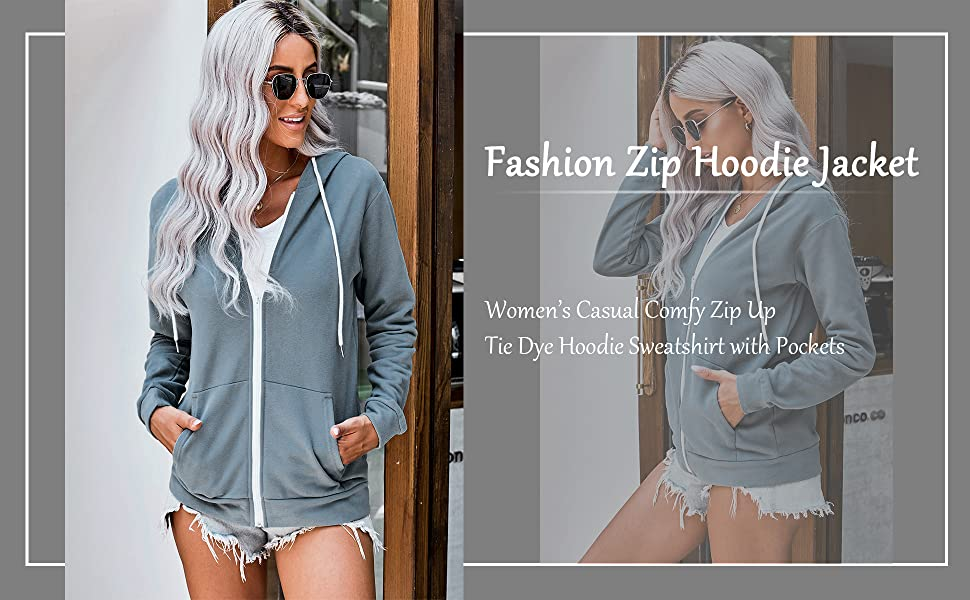 fashion zip up sweatwear