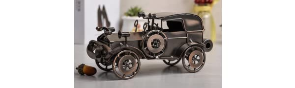 1920 Antique Antique Vintage Car Model Handcrafted Collections Collectible Vehicle for Home or Bar