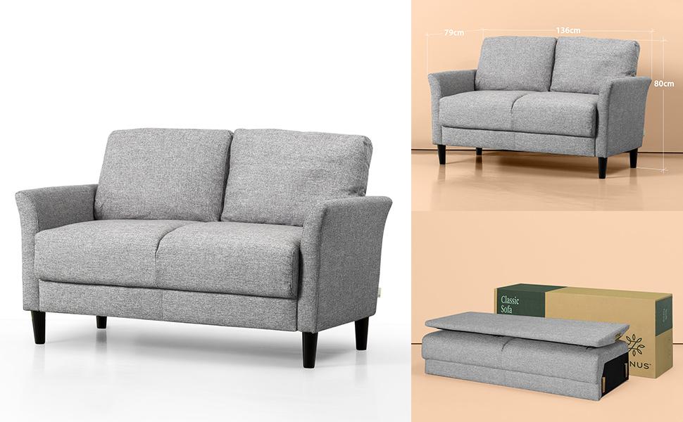 Zinus Classic 2 Seater Sofa Loveseat Sofa