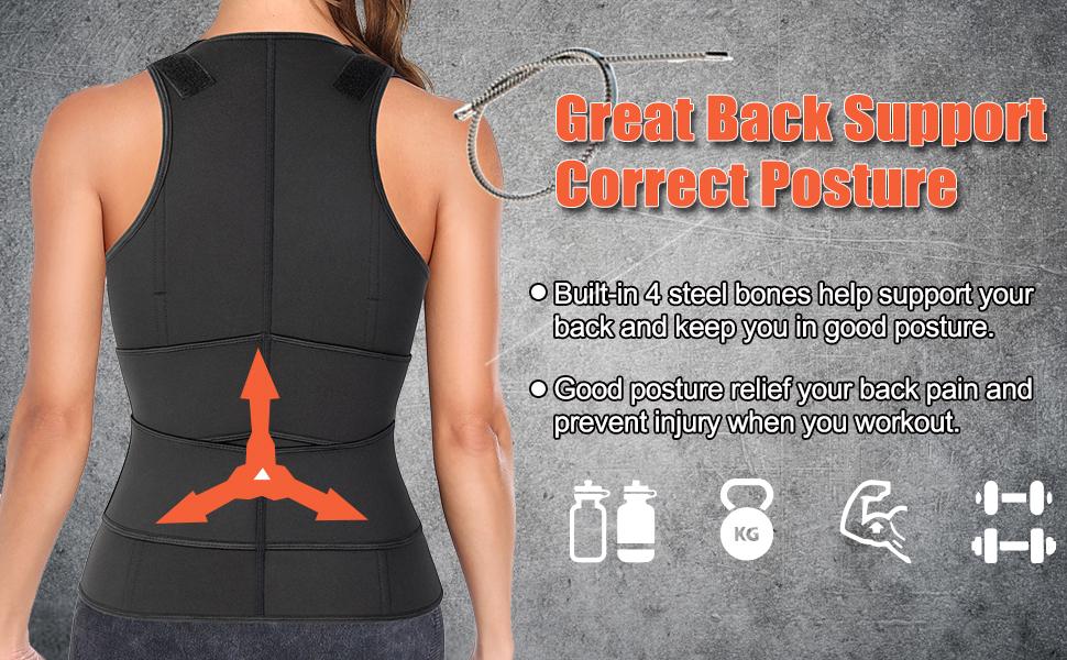 vaslanda sweat band waist trainer vest sauna suit for women