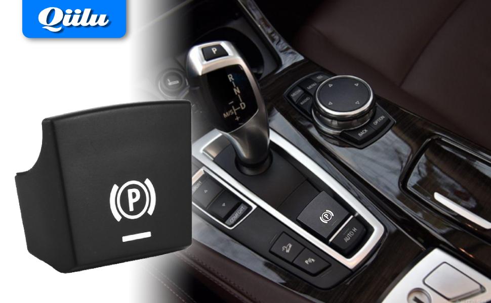Car Handbrake Parking Brake Switch Button Sticker Cover for BMW 09-14 5 / 6 Series 61312822518