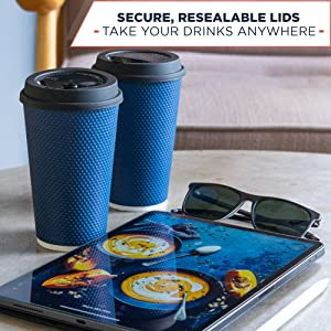 coffee cups with lids 16 oz