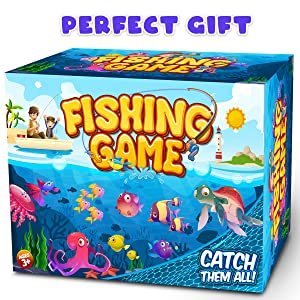 GoodyKing Fishing Game Set for Kids - Magnetic Fishing Water Pool Toy for Toddlers