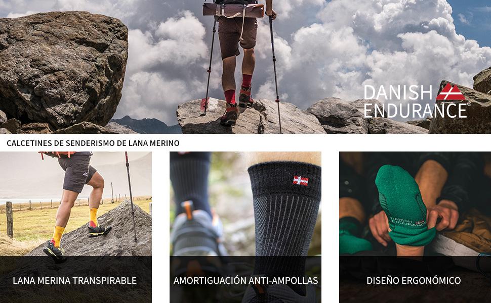 Calcetines de Senderismo y Trekking de Lana Merino para Hombre ...