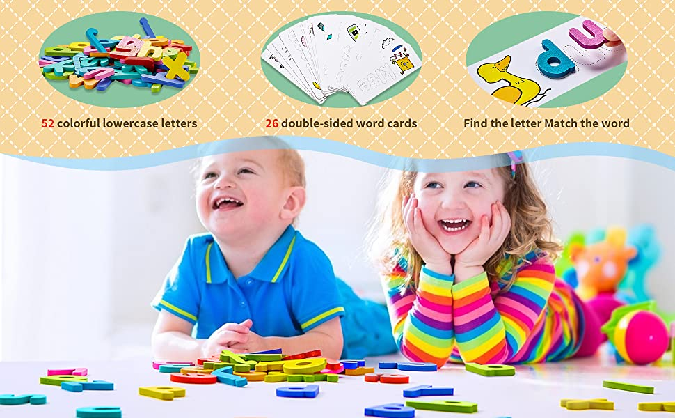 See and Spell Learning Toys Matching Letter Spelling Sight Words Games Preschool Educational Toys