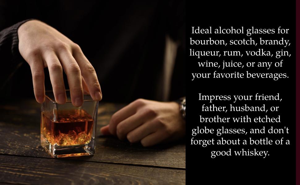 whiskey glasses square