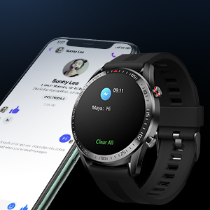 smart notification call alert message reminder sms sns reminder smart watch for andriod IOS iphone