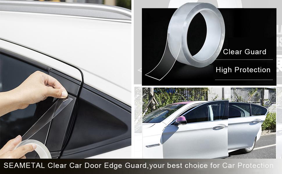Black, 16.5ft Seametal 16.5ft Car Door Edge Guard U Shape,Upgrade Auto Door Edge Trim Protector for Most Car SUV