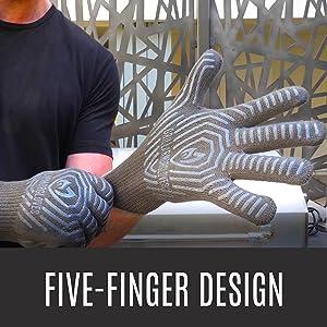 grill armor gloves best heat resistant glove for outdoor camping kitchen griller men women 932F grey