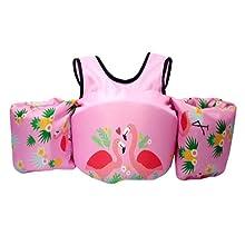 Pink swim float vest