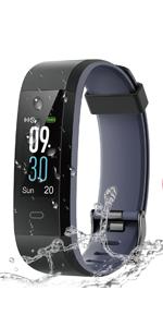 LATEC Pulsera de Actividad Inteligente, Impermeable IP68 Pulsera Inteligente con Pulsómetro 14 Moda Deportivo Podómetro Notificación de Mensajes ...