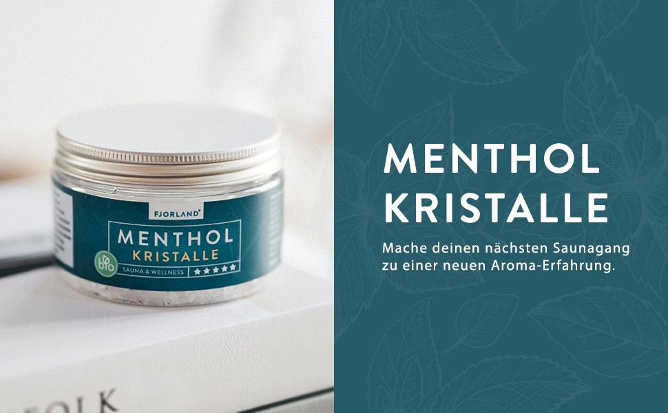 Menthol-Kristalle