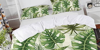 tropical bed set