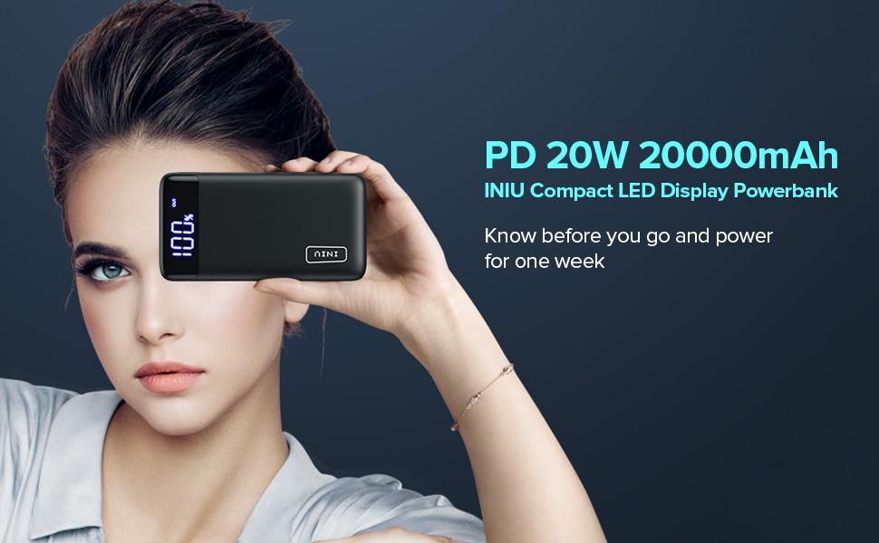 INIU 20000mah PD power bank