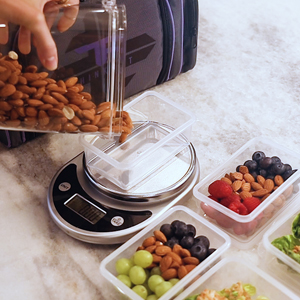 ThinkFit food scale for meal prep containers for my daily meal plan. Plastic Containers for Lunch