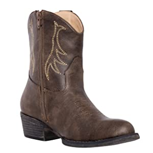 Women's Cowboy Cowgirl Short Round Toe Western Boot for Women