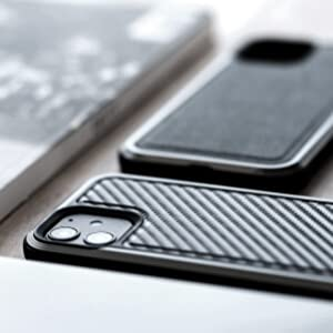 luxurious real genuine leather carbon fiber back black strong shock absorb scratch proof unbreakable