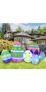 7.5 ft Long Easter Egg Inflatable