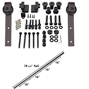 Black hardware rail track set