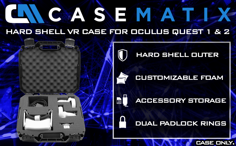 Oculus quest case vr headset organizer image callout