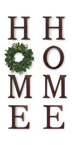 home letters for wall with wreath wall home decor letter wall hanging signs for living room rustic