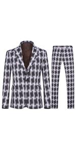 mens one button 3 piece suit