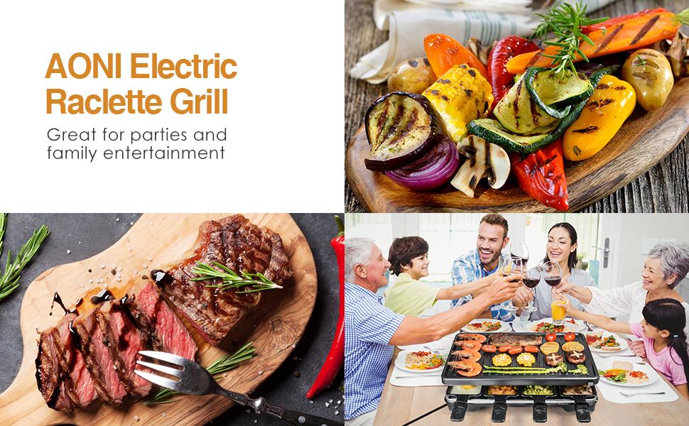 Grill à raclette électrique pour la fête